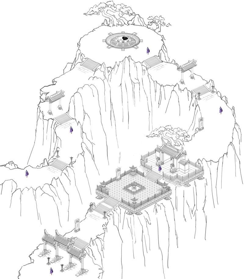 《侠义世界》游戏场景原画 终南山又名太乙山、地肺山、中南山、周南山,简称南山,是秦岭山脉的一段,西起陕西咸阳武功县,东至陕西蓝田,千峰叠翠,景色幽美,素有仙都、洞天之冠和天下第一福地的美称。  真实场景 主峰位于周至县境内,海拔2604米。对联:福如东海长流水,寿比南山不老松 中的南山指的就是此山。  《侠义世界》场景截图